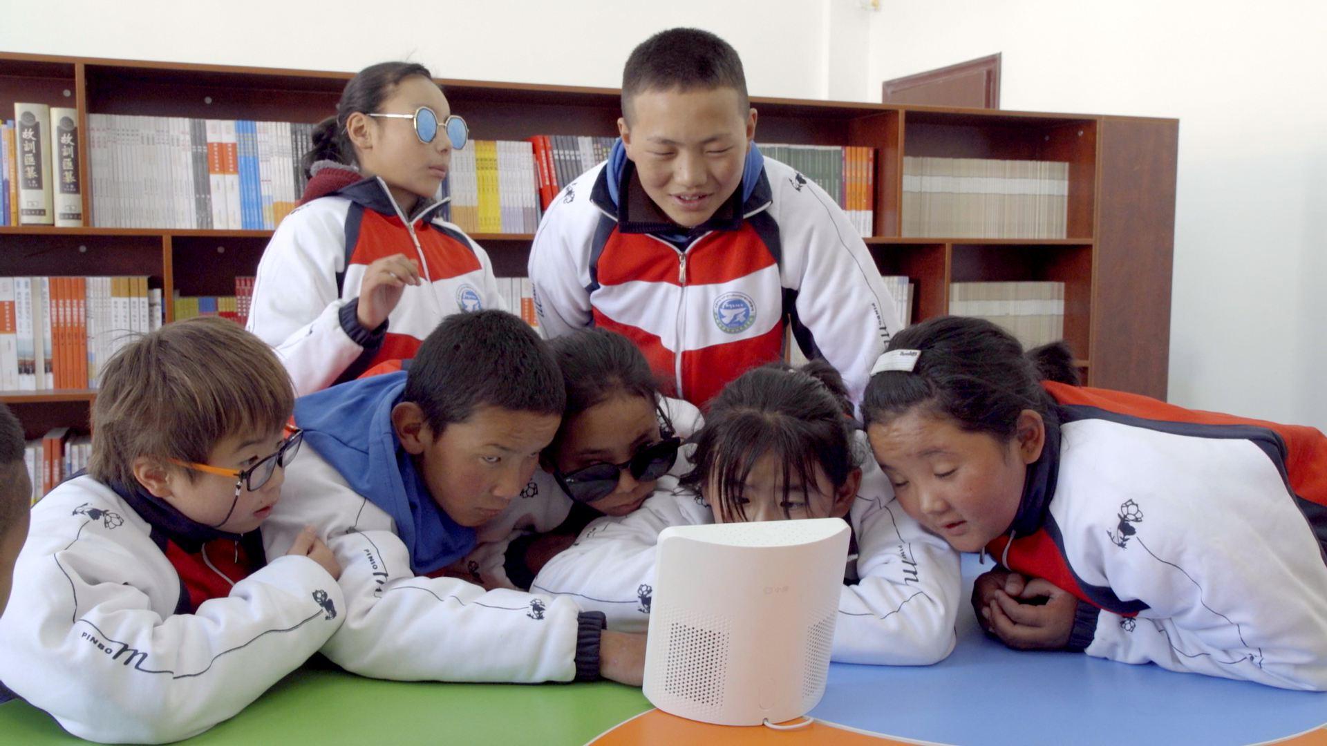国际盲人节|百度AI走进拉萨特殊教育学校,助力盲童实现无障碍学习